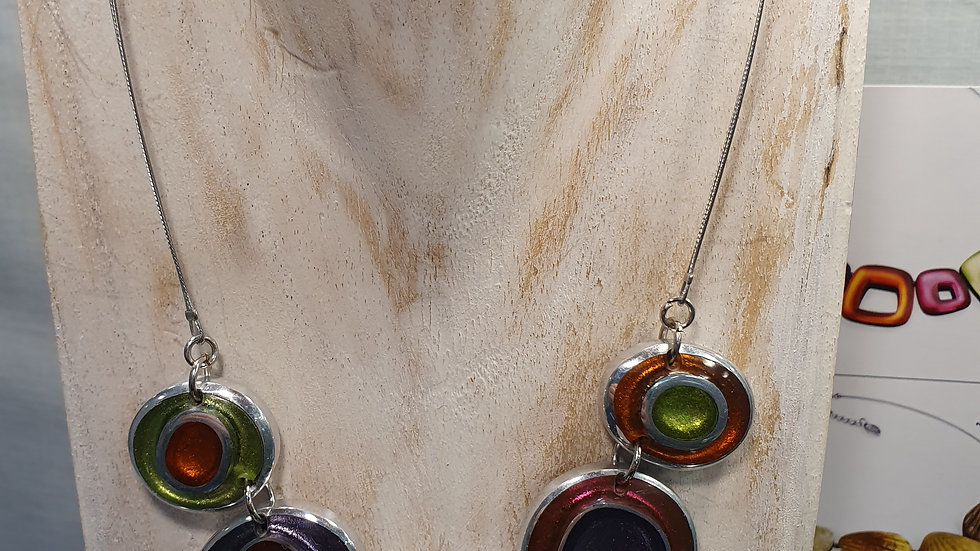 Watch This Space Sherbert Organic Circles Necklace