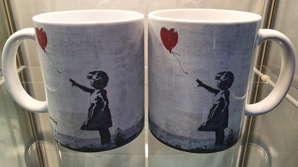 Banksy Mug Heart Blown Away