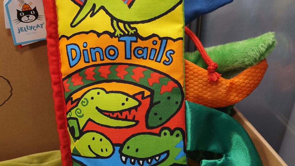 Jellycat Dino Tails Fabric Book