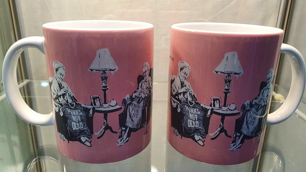 Banksy Mugs Punk Grannies