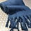 Thumbnail: Miss Sparrow dark blue winter scarf