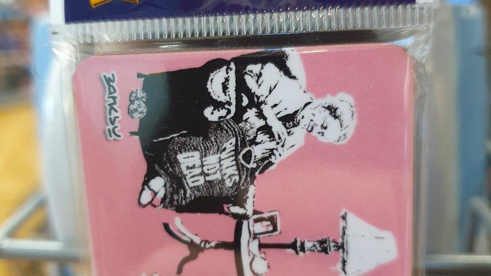 Banksy Wooden Magnet Punk Grannies