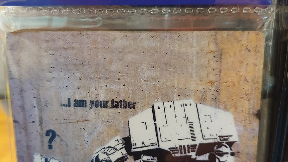 Banksy Wooden Coaster I Am Your Father