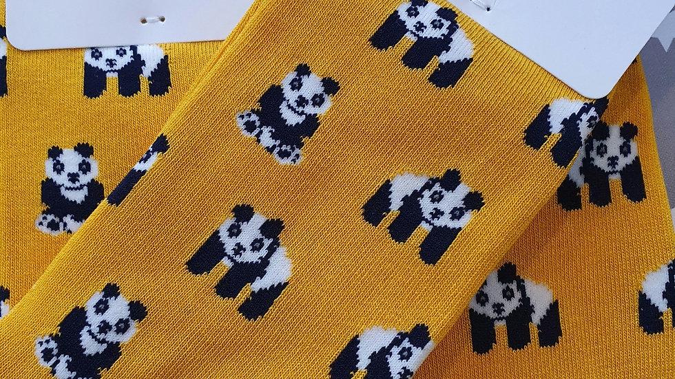 Mr Heron Bamboo Socks Pandas Yellow