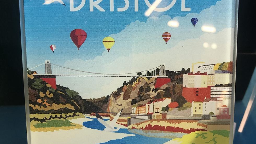 Glass Bristol Coaster