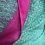 Thumbnail: Hot pink and vibrant teal scarf