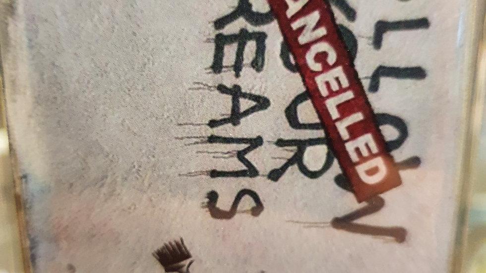 Banksy Wooden Magnet Follow Your Dreams