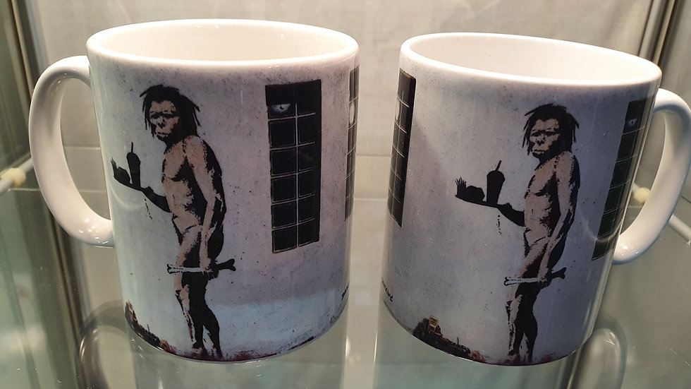 Banksy Mug Caveman Takeaway