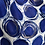 Thumbnail: Blue circles with silver embellishments scarf