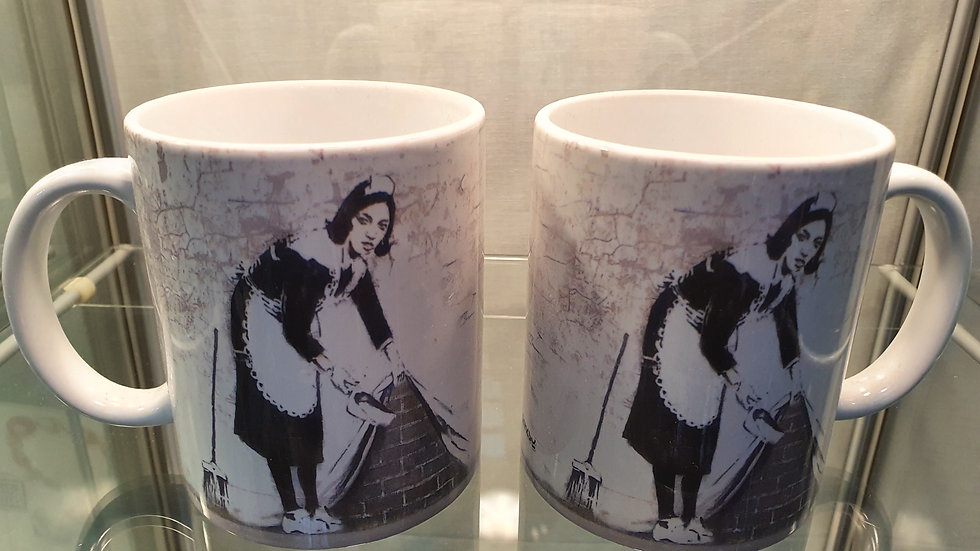 Banksy Mug Maid In London