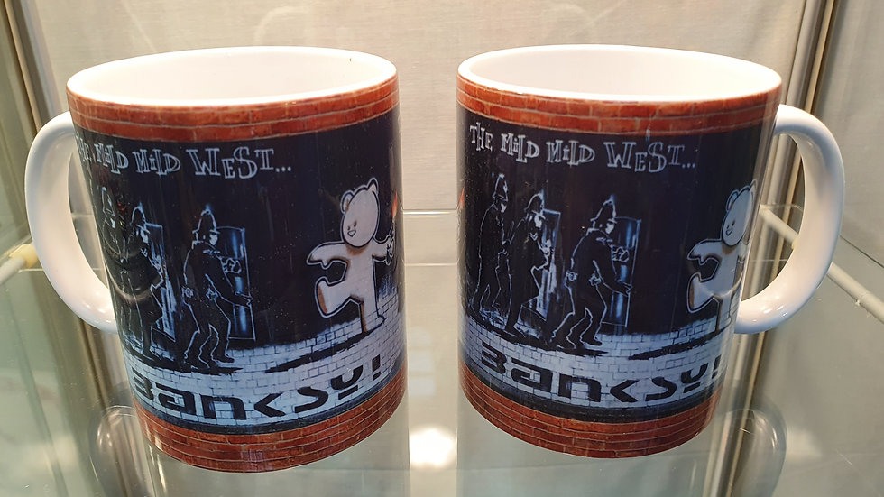 Banksy Mug Mild Mild West