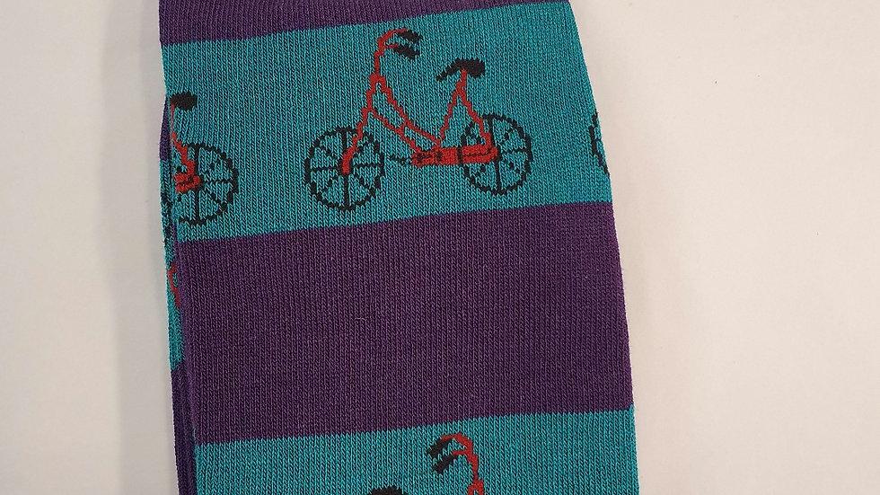 Mr Heron Bamboo Socks Bike's Torquoise