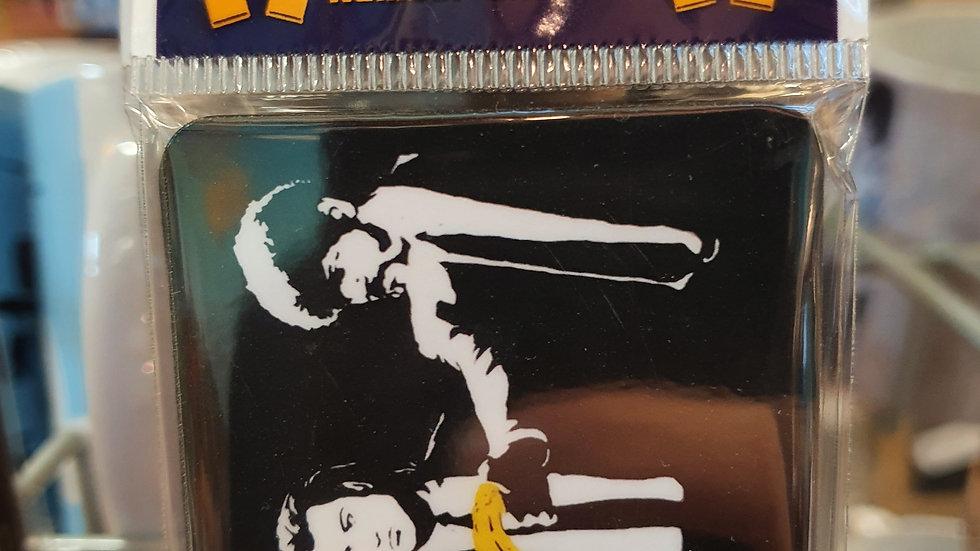 Banksy Wooden Magnet Pulp Fiction