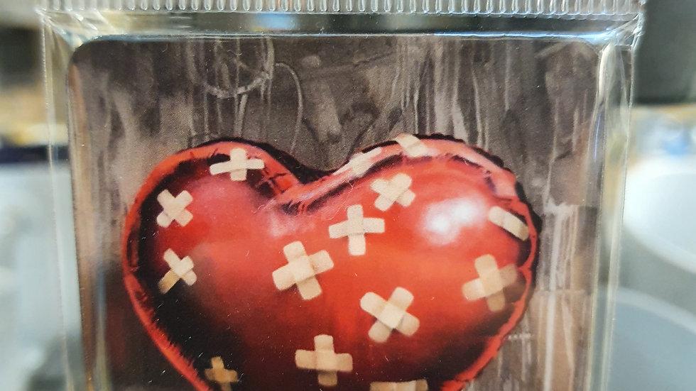 Banksy Wooden Magnet Heart Plasters