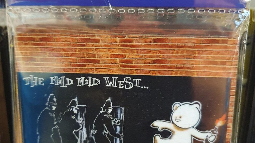 Banksy Wooden Coaster Mild Mild West