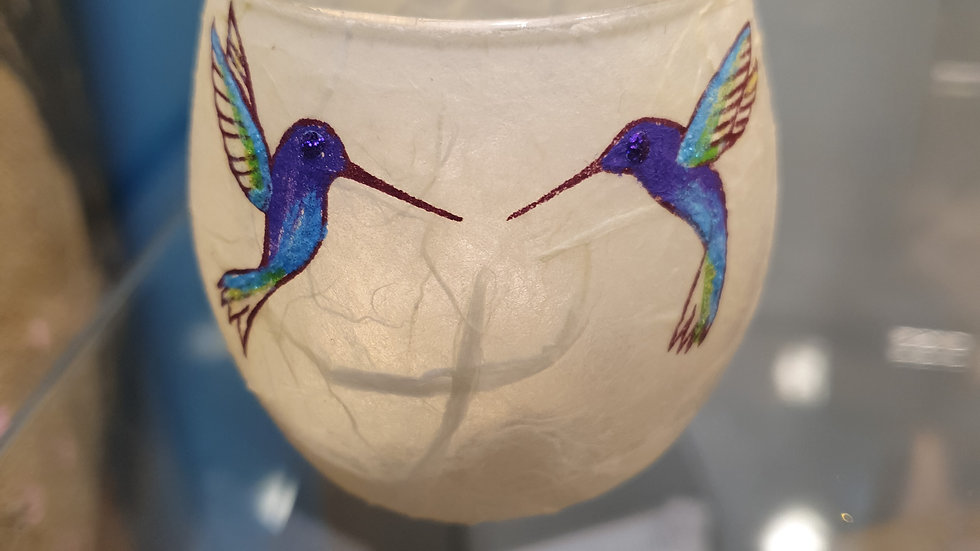 Strawsilk T light Votive Hummingbirds