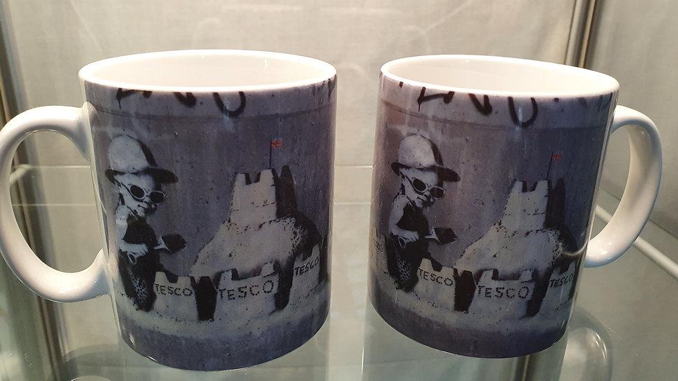 Banksy Mug Sandcastles