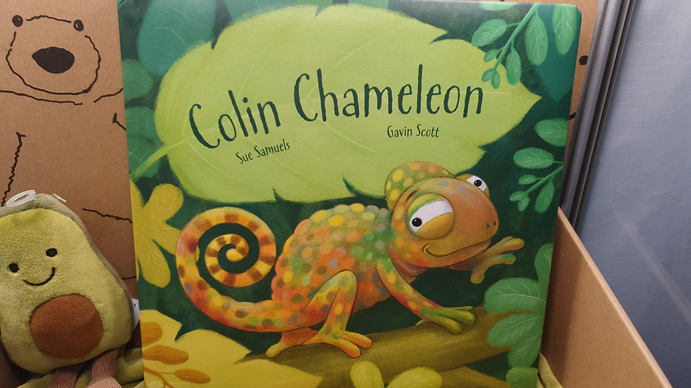 Jellycat Colin The Chameleon Book