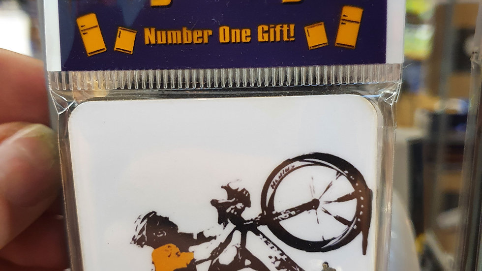 Banksy Wooden Magnet Lance Armstrong