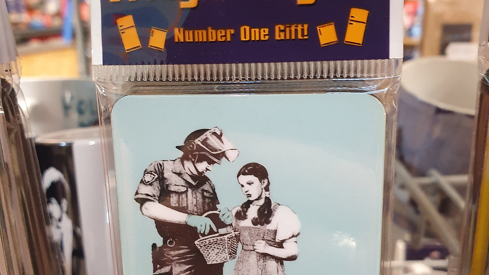 Banksy Wooden Magnet Dorothy Stop And Search Police