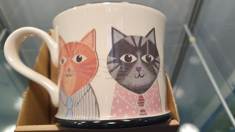 Moorland Pottery Colourful Cats