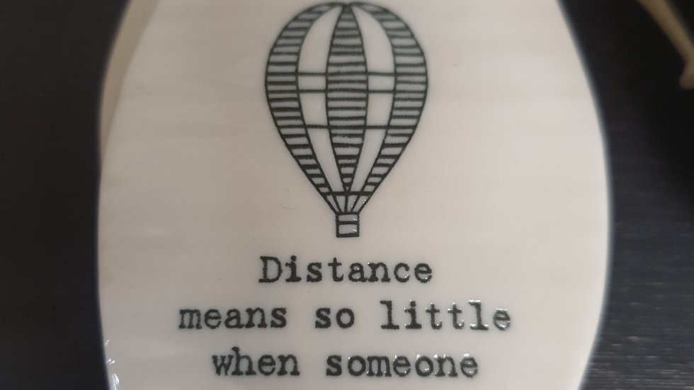 Ceramic hanging sign Distance
