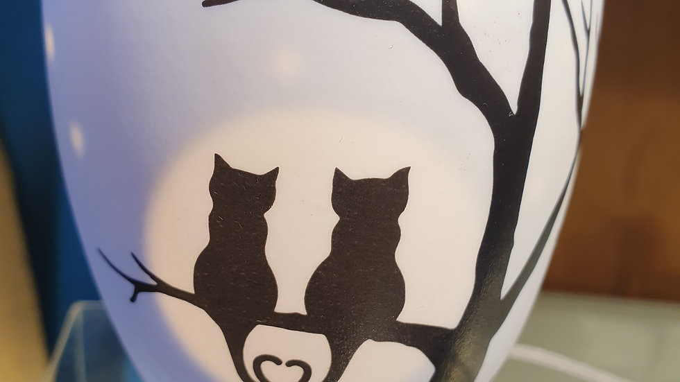 LightGlow Porcelain Votive Love Cats Small