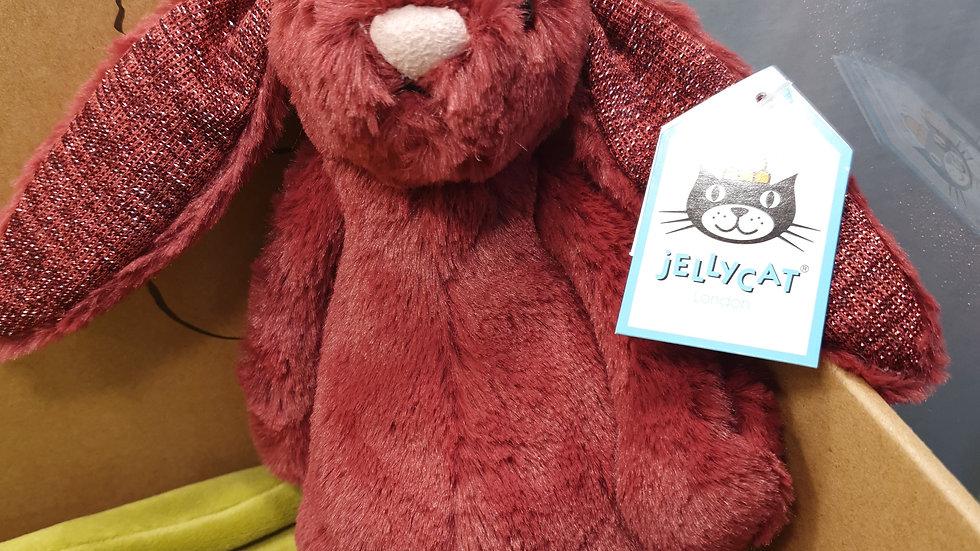 Jellycat Bashful Sparkling Cassis Bunny Small