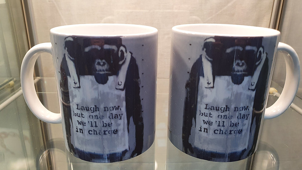 Banksy Mug Laugh Now