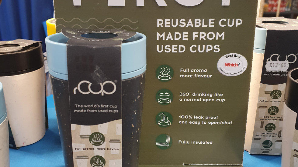 rCUP Reusable Cup Teal and Black 12oz
