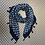Thumbnail: White flowers in blues scarf