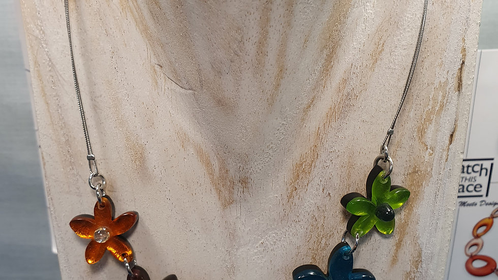Watch This Space Rainbow Flower Necklace