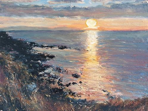 Last light at Covesea