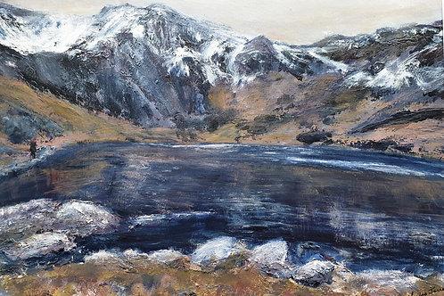A winter's day walk by Llyn Idwal