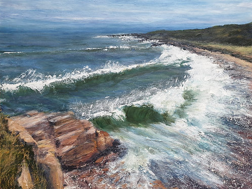 Sandstone and Surf , Hopeman