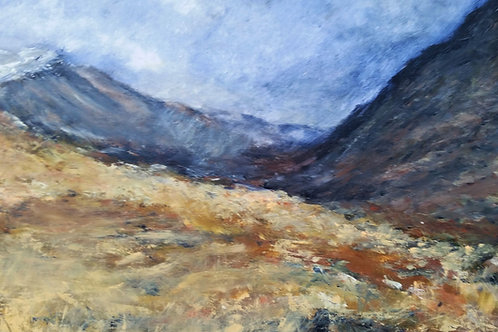 Approaching hail shower, Nant Ffrancon
