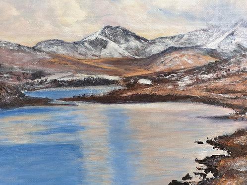 Snowdon horseshoe and winter reflections