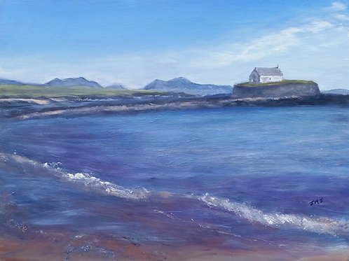 Llangwyfan, Church in the sea