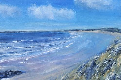 Penrhos beach from Llanddwyn island