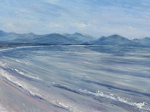 Snowdonia from Llanddwyn beach