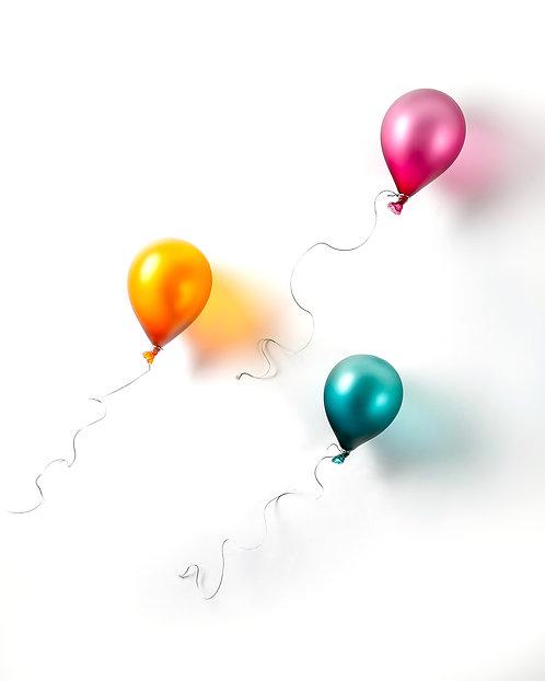 Set of Three Floating Balloons by Brynn Hurlstone