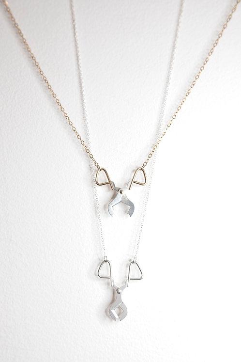 Diamond Shear Necklace by Lauryl Gaumer