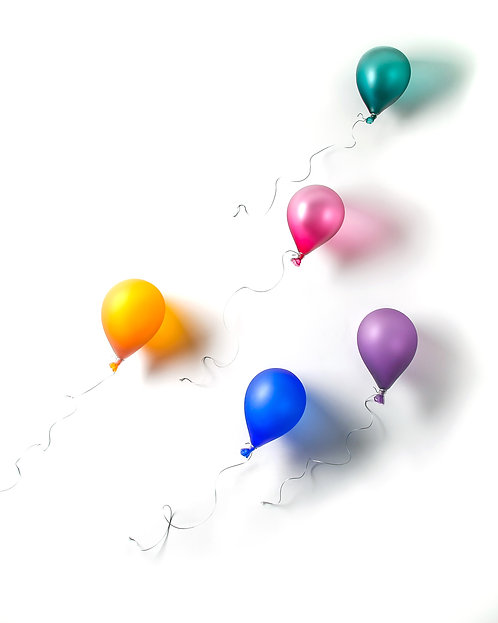 Set of Five Floating Balloons by Brynn Hurlstone