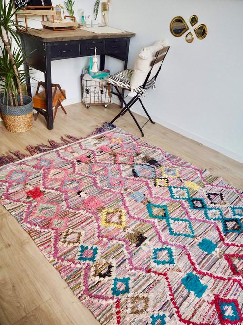Boucherouite Tapis tapis boucherouite - bonhomme - 260x140 cm