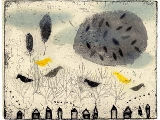 オバタクミ銅版画展 『 まるい月 』