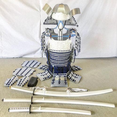 銀甲冑紺糸毛引威(Mサイズ)