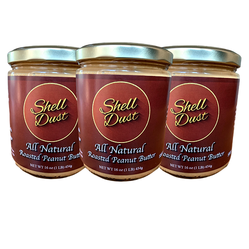 3-Pack of All Natural Roasted Peanut Butter