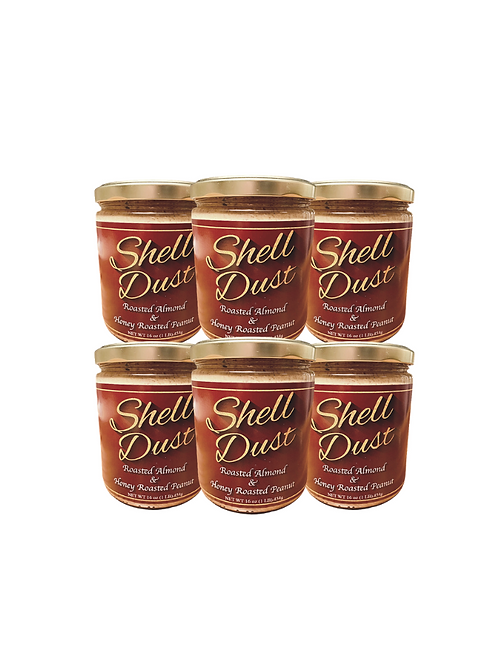 Family size (6-pack) - Roasted Almond & Honey Roasted Peanut Butter