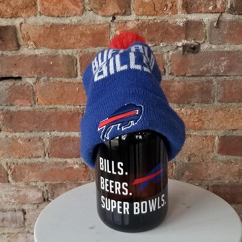 Bills. Beer. Super bowls. Growler