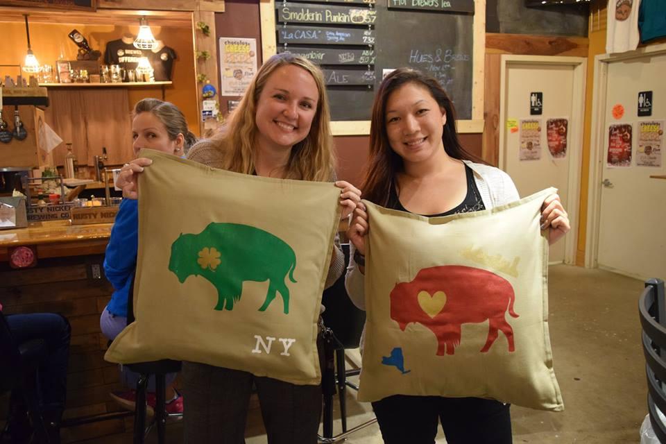 Buffalo Pillow Party